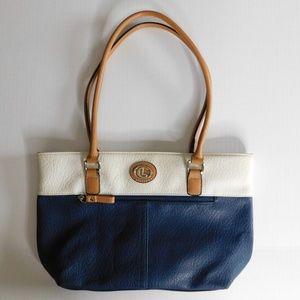 Lauren Conrad Blue and White Handbag